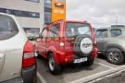 red-suzuki-jimny-jeep-hire-car-at-keflavik-airport-iceland