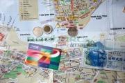 tourist-map-hong-kong-with-octopus-travel-card-hong-kong-dollars-cash