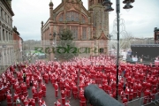 Over-10000-people-dressed-as-santa-claus-attempt-the-Guinness-World-Record-in-guildhall-square-with-cannon-Derry-Northern-Ireland