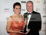 donna-traynor-noel-thompson-with-IFTA-award-for-best-news-programme-for-BBC-newsline-in-the-press-room-at-the-Irish-Film-Television-Awards-2008-Dublin-Republic-Ireland