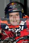 Former-World-Champion-Dougie-Lampkin-MBE-from-Great-Britain-waits-for-the-start-the-heats-at-the-Belfast-round-the-Indoor-Trial-World-Championship,-won-by-Adam-Raga-from-Spain.