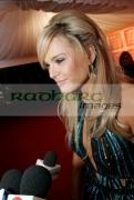 Sarah-Morrisey-Miss-Ireland-at-the-Meteor-Ireland-Music-Awards-_-the-Point-_-DUBLIN,-IRELAND-_-February-1
