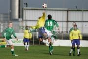 Northern-Ireland-18-Tommy-Stewart-challenges-Brazil-7-Ralfe-for-header-Northern-Ireland-v-Brazil,-Northern-Ireland-Milk-Cup-Elite-section-semi-final,-Coleraine-Showgrounds,-Northern-Ireland
