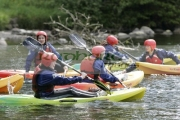 young-people-kayaking-on-castlewellan-lake,-county-down,-northern-ireland.