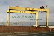 Harland-Wolff-cranes-Samson-Goliath,-Belfast-Shipyard-