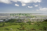 Newtownards-from-Scrabo-hill-,-County-Down,-Northern-Ireland.