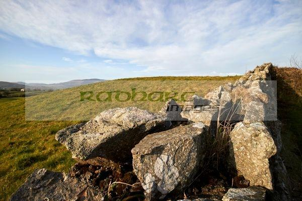 dry stone wall in the border area of south county armagh northern ireland