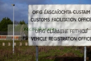 Disused-Irish-Customs-office-near-the-irish-border-between-Northern-Ireland-Republic-Ireland-soon-to-be-the-UK-EU-land-border-post-Brexit.-The-border-post-is-couple-hundred-metres-inside-the-Republic-Ireland-on-the-A1-road-the-former-main-route-between-Belfast-Dublin.