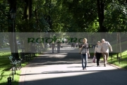 people-walking-along-the-footpath-through-the-planty-public-parks-in-Krakow